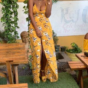 Long flower summer /brunch dress